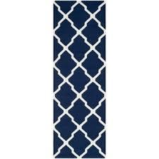 Flat Weave Runner Rugs Navy Flatweave Runner Rugs For Less Overstock