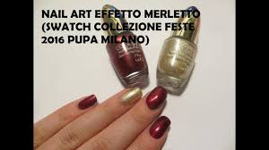 lace effect with nailpolish and acrylic powder swatch red queen