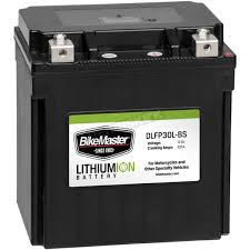 bikemaster lithium ion battery dlfp 30l bs atv motorcycle