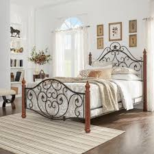 homesullivan black u0026 brown queen bed frame 404512q 1 bed the