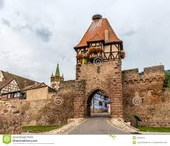witches tower in chatenois alsace france stock photography