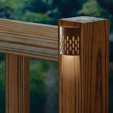 solar powered outdoor l post lights outdoor deck lights ideas nurani org