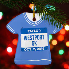 running porcelain ornament personalized my 5k shirt