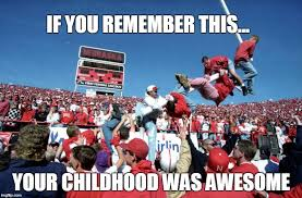 Nebraska Football Memes - nebraska wins and the goalpost come down imgflip