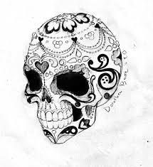 sugar skull black and gray designs