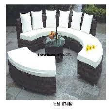 Rattan Garden Furniture Sofa Sets Circular Arc Sofa Half Round Furniture Healthy Pe Rattan Garden