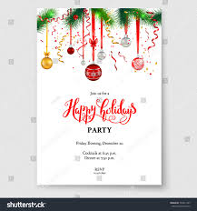 christmas cocktails invite luxury decoration fir balls winter holiday stock vector 734911405