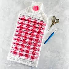 pattern crochet towel holder the perfect fit mitten left in knots