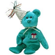 amazon 1 ty december birthday bear hat beanie baby