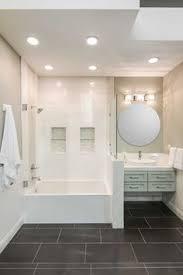 Black Bathroom Floor Tile Cool Grey And Black Bathroom Focal Point Tile Blue Twilight