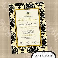 templates cheap 50th wedding anniversary invitations as well as
