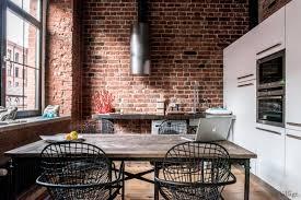 cuisine style loft industriel loft industriel et moderne en russie