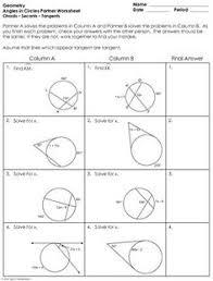 Area Of Sector Worksheet Free Circle Basics Worksheet Geometry Worksheets