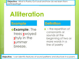 alliteration definition example trees