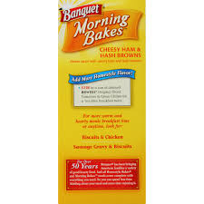 banquet morning bakes cheesy ham u0026 hash browns complete meal kit