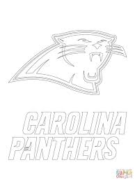 carolina panthers logo coloring page free printable coloring pages