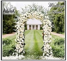 wedding arch adorox 7 5 ft lightweight white metal arch wedding