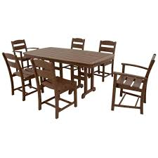 dining room sets massachusetts ivy terrace classics mahogany 7 piece plastic outdoor patio dining