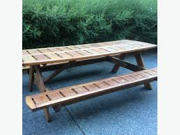 red cedar picnic table