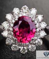 engagement rings flower images Oval cut tourmaline flower design diamond pave halo engagement jpg
