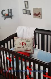 Plane Crib Bedding Vintage Airplane Crib Bedding With And Blue And Grey Fabrics