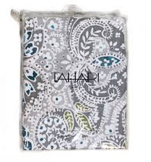 Paisley Shower Curtain Blue by Amazon Com Tahari Shower Curtain Mica Paisley Medallion Print By