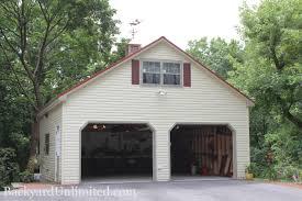 Shed Overhead Door by Garages U0026 Large Storage Multi Car Garages Backyard Unlimited
