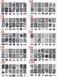 bc custom nail art stamping plates flower lace pattern nail stamp