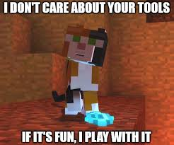 Memes Minecraft - image meme winslow playing cyan efas jpg minecraft story mode