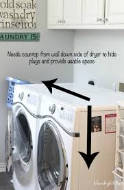 Countertop Clothes Dryer How To Install A Laundry Room Countertop Bluesky At Home