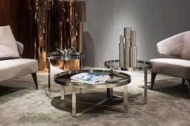 mirrored end table set modrest wilcox contemporary mirrored coffee table set coffee
