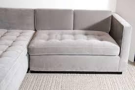 Grey Tufted Sofa by Grey Velvet Sofa Sectional Centerfieldbar Com