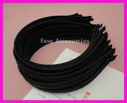 satin ribbon bulk 10pcs 5mm black satin ribbon wrapped plain metal hair headbands