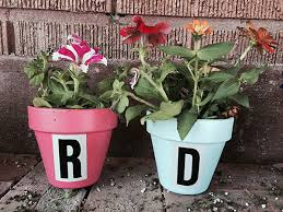 personalized flower pot preparing bedding for a move and diy personalized flower pots