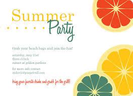 colorful citrus fruit summer invitation frutas