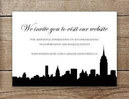 wedding invitations nyc new york city wedding invitation website insert or rsvp card