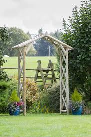 zest 4 leisure rustic wooden garden arch round posts pergola plant