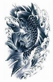 black and grey koi fish designs grey ink koi fish