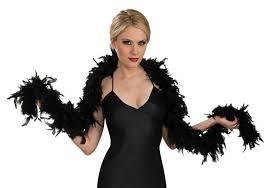 20s Halloween Costumes 1920s Black Fashion Feather Boa 20s Halloween Costume Accessory 7101