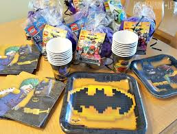 batman party supplies lego batman party supplies and goody bag idea learning