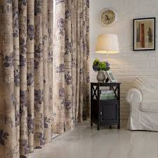 Curtain Side Material Double Side Print Floral Curtain Styles