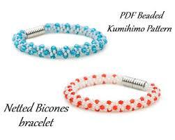 bracelet bead pattern images Pdf beaded kumihimo pattern netted bicones kumihimo bracelet jpg