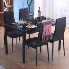 Black Table And Chair Sets EBay - Black kitchen table and chairs