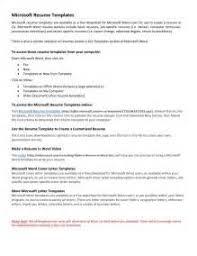Resume Templates Word 2003 Resume Format In Word 2003 Cv Templates Microsoft Word Modern