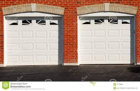 two garage doors royalty free stock images image 6770809