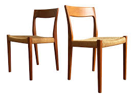 svegard markaryd scandinavian teak chairs pair chairish