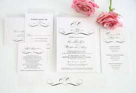 Wedding Invitation Bundles Classic Vintage Wedding Invitations In Black And White U2013 Wedding