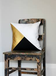 geometric black white u0026 metallic gold pillow cover gorgeous