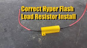 load resistor install eliminating signal hyper flash youtube