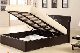 texas ottoman storage bed kingsize brown black texas ottoman bed